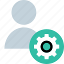 gear, people, person, user icon