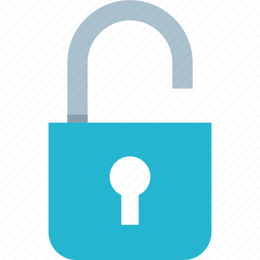 lock, locked, unlock icon