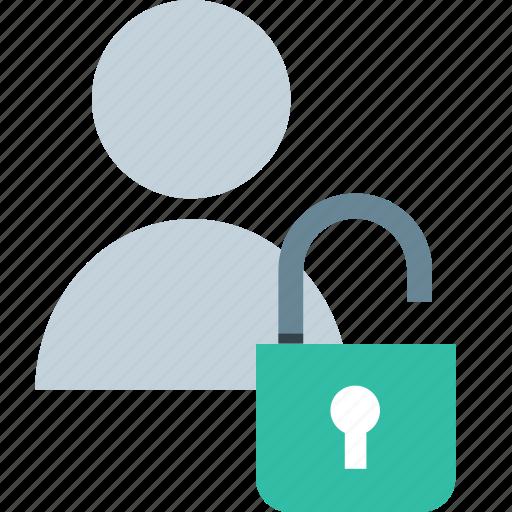 lock, person, user icon