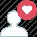 avatar, love, user icon