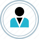 business, people, user icon