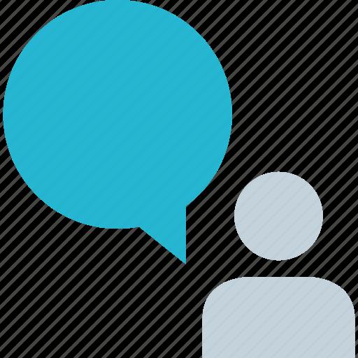 communication, talk, user icon