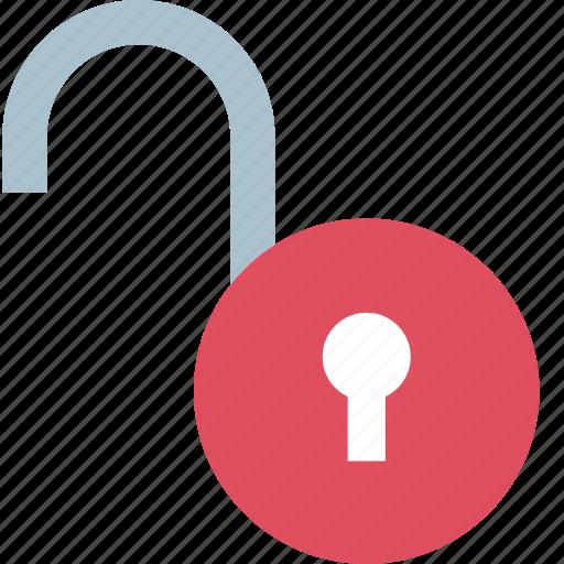 lock, locked, unlock icon
