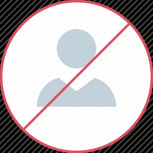 boss, no, person, user icon