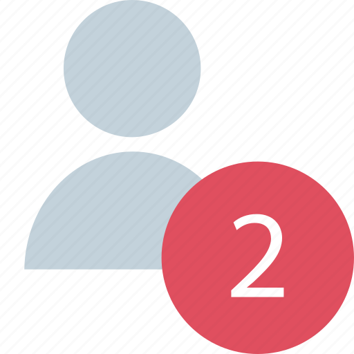 Number, two, user icon - Download on Iconfinder