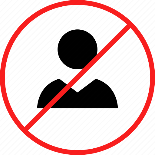 avatar, delete, denied, x icon