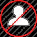 avatar, delete, denied, user icon