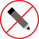 denied, edit, pencil icon