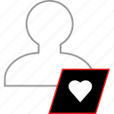 heart, love, save, user icon