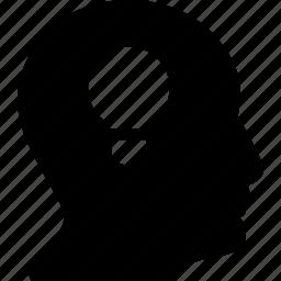 lightbulb, man, people, person, user icon
