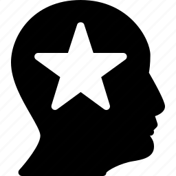 man, person, profile, star, user icon