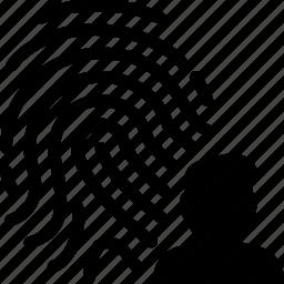 fingerprint, man, people, person, user icon