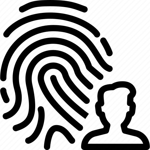 fingerprint, people, person, profile, user icon