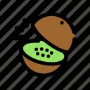 chop, cooking, food, fruit, kiwi, slice icon