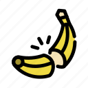 banana, chop, cooking, food, fruit, slice icon