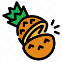 chop, cooking, food, fruit, pineapple, slice icon