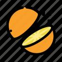 chop, cooking, food, fruit, orange, slice icon