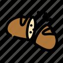 bread, chop, cooking, food, slice icon