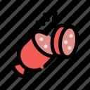chop, cooking, food, fruit, sausage, slice icon