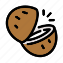 chop, coconut, cooking, food, fruit, slice icon