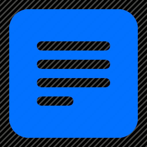 alignment, full, text icon