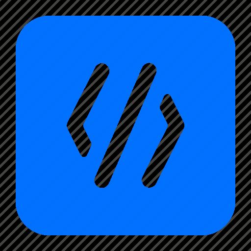 code, coding, programming, window icon
