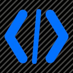 code, coding, programming icon