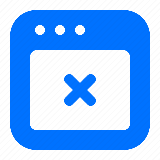 browser, cancel, delete, remove icon