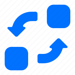 elements, exchange, transfer icon