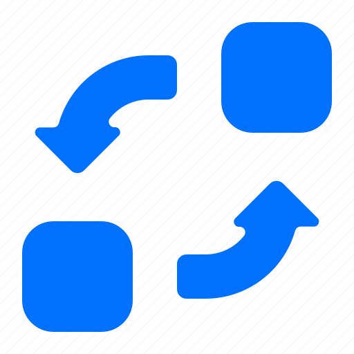 elements, exchange, transfer icon