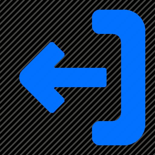 arrow, export, left icon