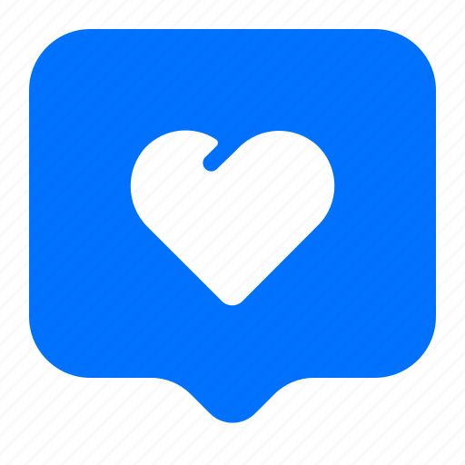chat, heart, message, text icon