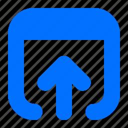 arrow, insert, up icon