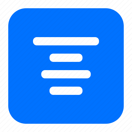 alignment, middle, text icon