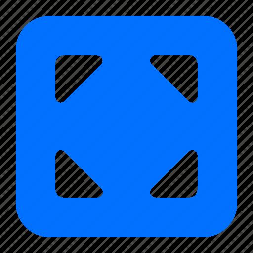 arrows, outward, pointers icon