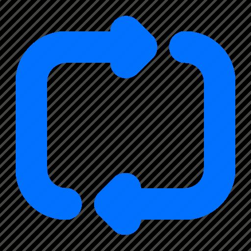 arrow, media, repeat, rotate icon