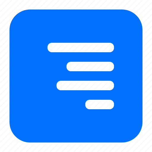 alignment, lines, right, text icon