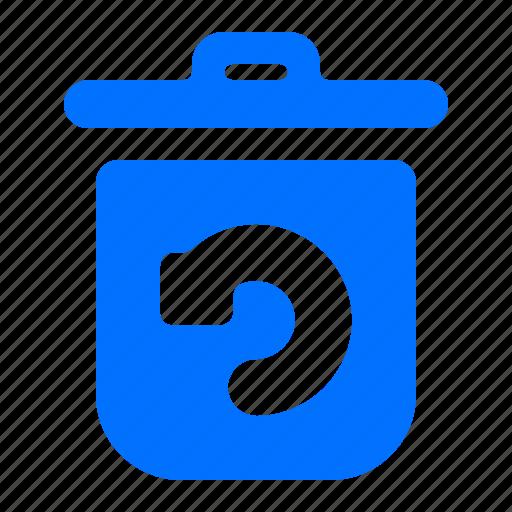 bin, refresh, rotate, trash icon