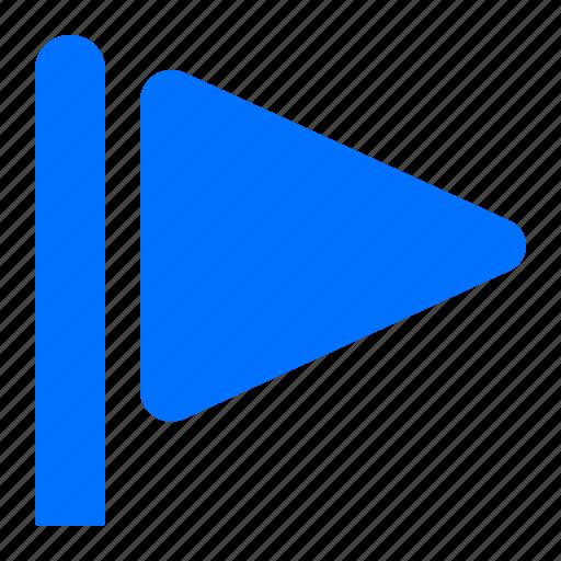 flag, flagged, triangle icon