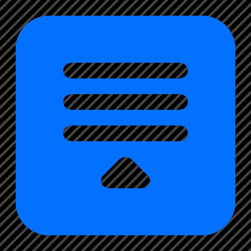 lines, slide, up, window icon