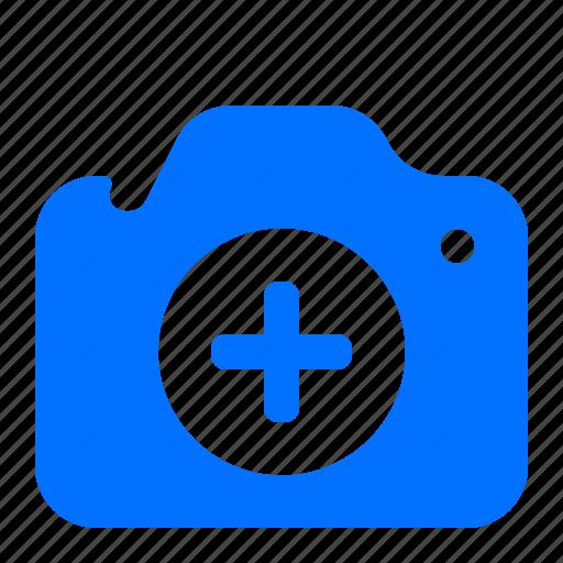 add, camera, create, new icon