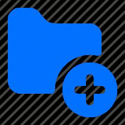 add, create, folder, new icon