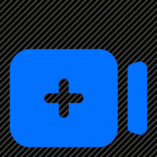 add, camera, new, video icon
