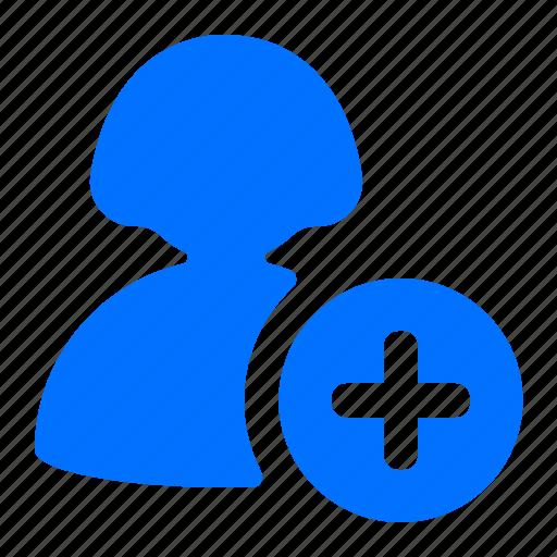 add, create, new, user icon