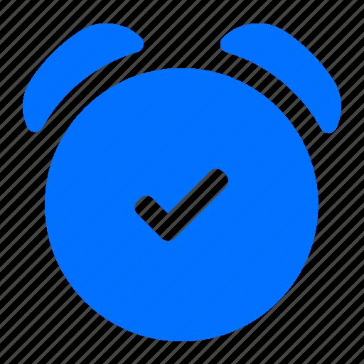 alarm, complete, confirm icon