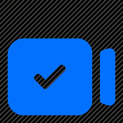 camera, complete, confirm, video icon