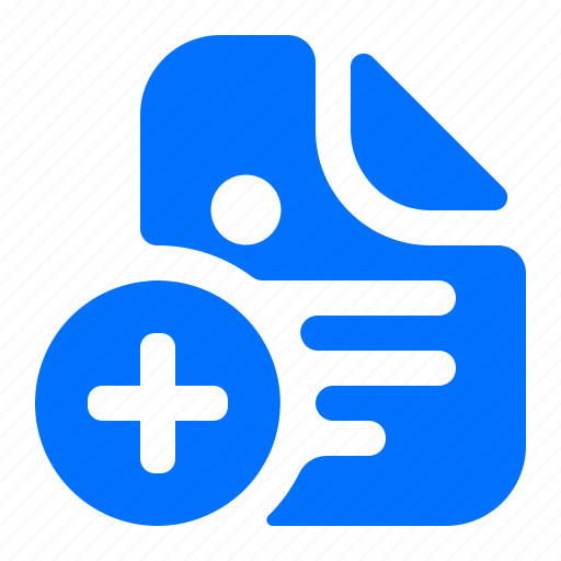 add, create, document, new icon