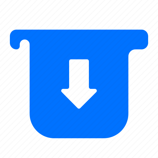 arrow, down, extract icon