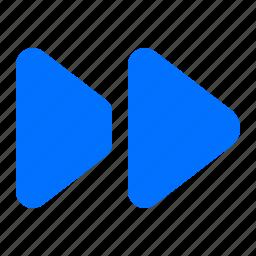 fast, forward, media, multimedia icon