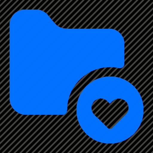 favourite, file, folder, heart icon